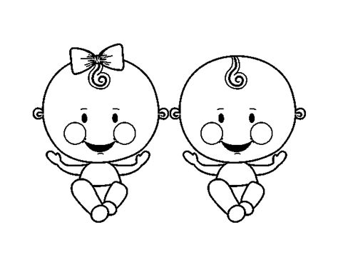 twin babies coloring page free coloring pages of twin baby