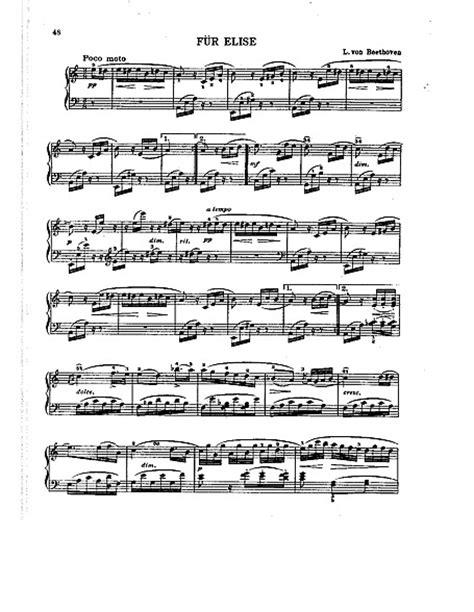 Para Elisa (Für Elise) Original version (scanned) - Piano