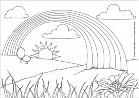 rainbow colouring pages