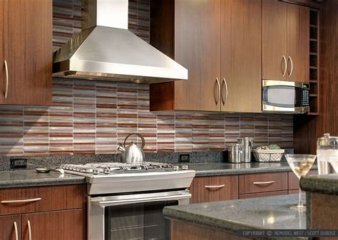 Cheap Glass Tiles For Kitchen Backsplashes by Brown Cabinet Metal Modern Kitchen Backsplash Tile