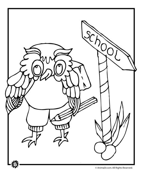 owl reading coloring page wise owl coloring page woo jr kids activities