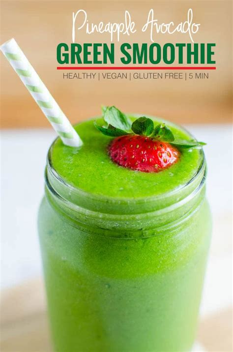 avocado green smoothie healthy drink    eat