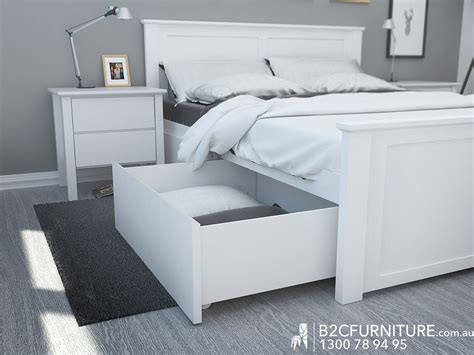 White Kingsize Bed Frame Fantastic King Size Bed Storage White Modern B2c Furniture