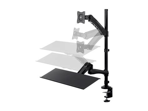 monoprice sit stand desk review sit stand articulating monitor and keyboard workstation