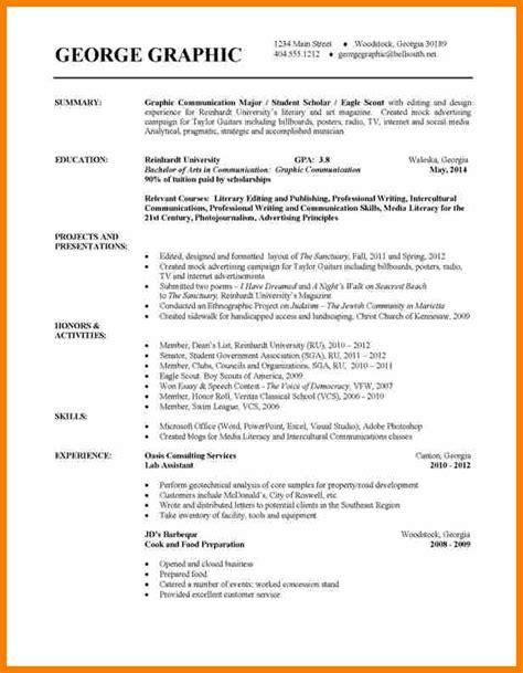 11 college student resume sle bid template