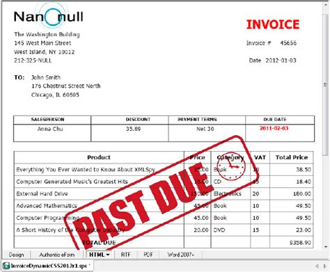 past due invoice template get more mileage from your stylevision designs with