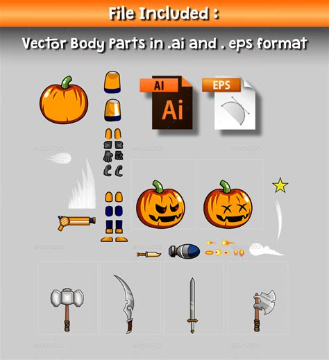halloween boy  game character sprite  prmsdk