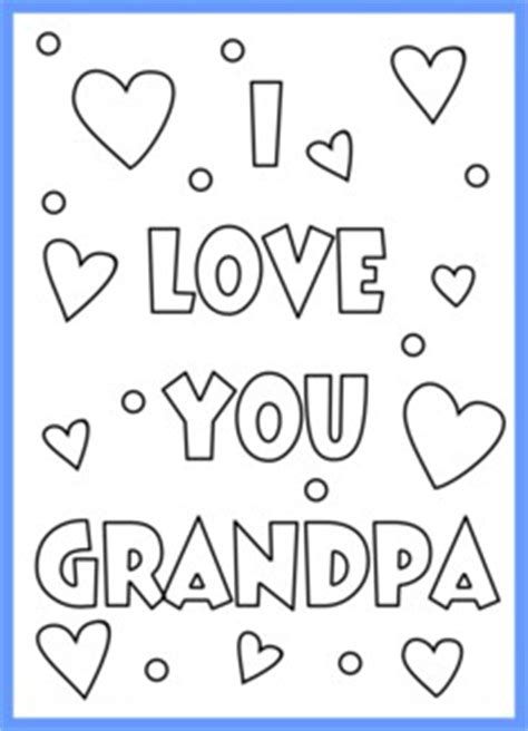 i love grandad colouring pages