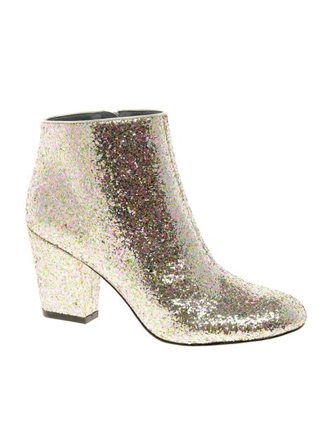 glitter ankle boots asos asos all that jazz glitter ankle boots at asos