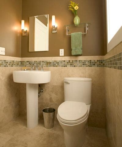 half bathroom design diy mosaic tile accents to dress up your bathroom design
