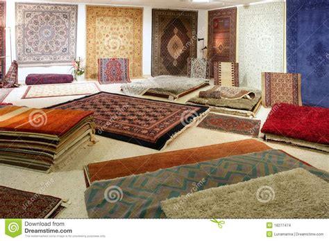 tappeti arabi arabic carpet shop exhibition colorful carpets stock