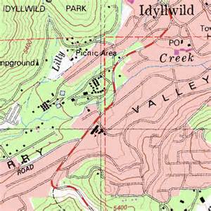 idyllwild california map idyllwild ca