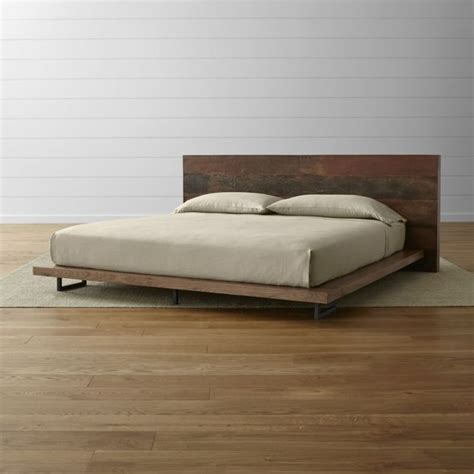Crate And Barrel Platform Bed Atwood King Bed Without Bookcase Footboard Crate And Barrel King Beds Platform Beds And Crates