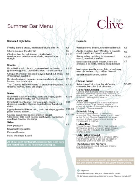 bar menu templates 2 free templates in pdf word excel