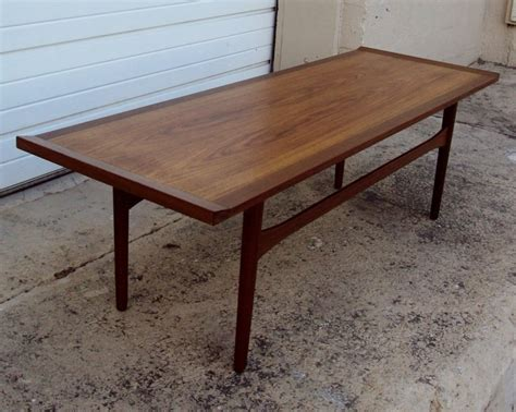 bench coffee table narrow swedish mid century modern narrow coffee table at 1stdibs