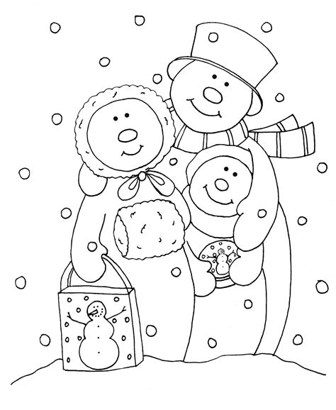 coloring page snowman family free dearie dolls digi sts as requested snowman digis