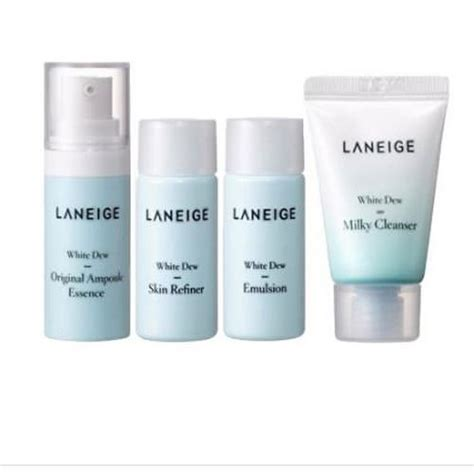 Laneige White Dew Trial Kit bá kit dæ á ng da laneige white dew trial kit 4 items
