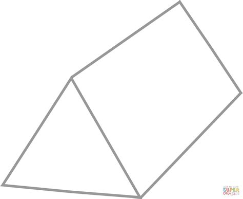 prisma form triangular prism coloring page free printable coloring pages