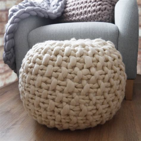 Ottoman Knitted Classic Plympton Knitted Footstool By Aston Notonthehighstreet