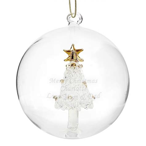 personalised christmas glass bauble gifts for angels