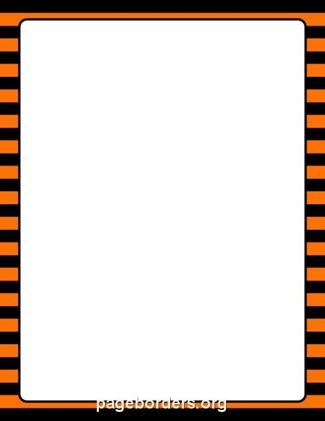 printable blue striped border use the border in printable orange and black striped border use the border in microsoft word or other programs