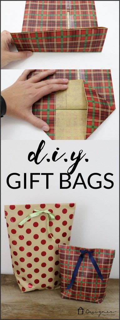 How To Make A Gift Bag With Wrapping Paper - a must pin for the holidays learn how to make a diy gift
