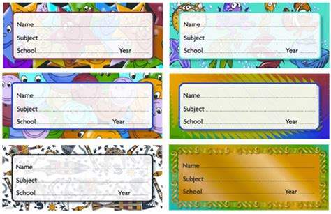 printable labels for school books australia school book labels pictures to pin on pinterest