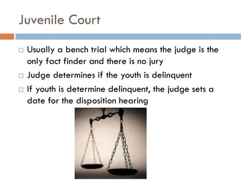 definition of bench trial what does a bench trial mean ppt juvenile law powerpoint