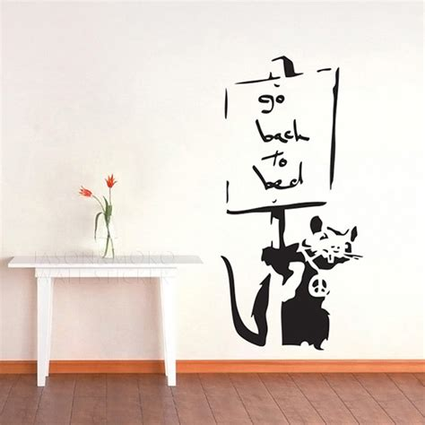 wallpaper wall stickers creative cool banksy wall stickers vinyl mural wallpaper
