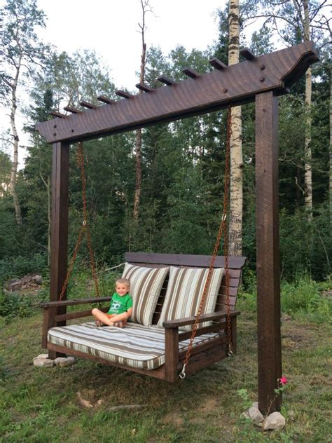 pergola swingday bed swing woodworking creation