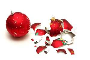 Red Christmas Bulb Ornaments - broken red christmas ball and safe one isolated on white backgro stock photo colourbox