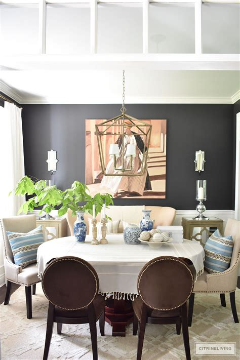 Pillows For Dining Room Chairs by Summer Home Tour With Beautiful Blues And Fresh Greenery