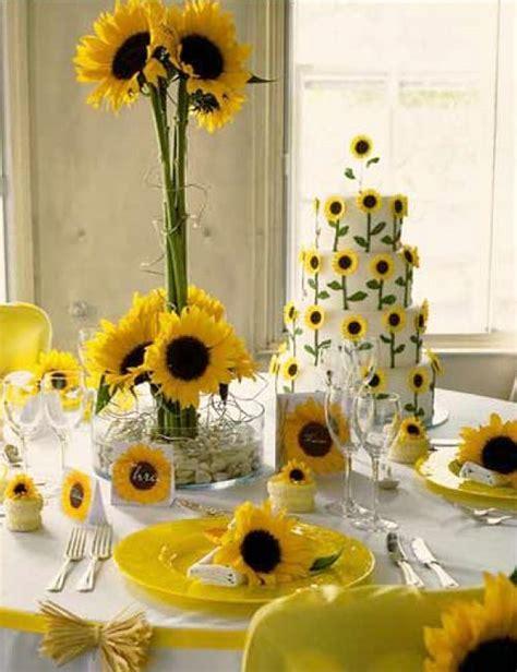 beautiful flowers  unique sunflower wedding decorating
