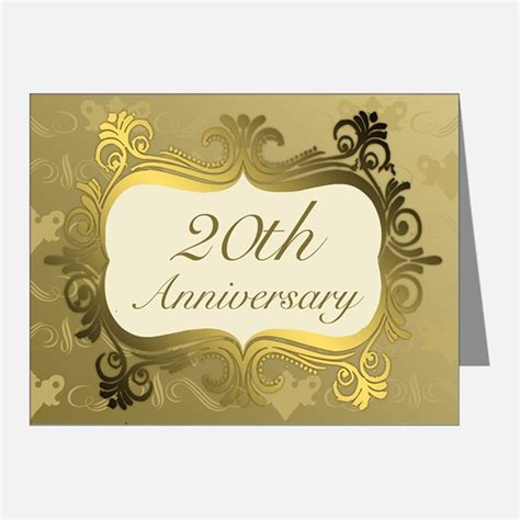 20th Anniversary Cards 20th anniversary thank you cards 20th anniversary note