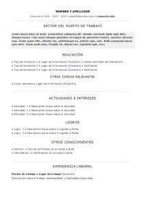 Plantilla De Curriculum Basico Experiencia Plantilla De Curr 237 Culum Vitae B 225 Sico Experiencia Laboral Trabajemos