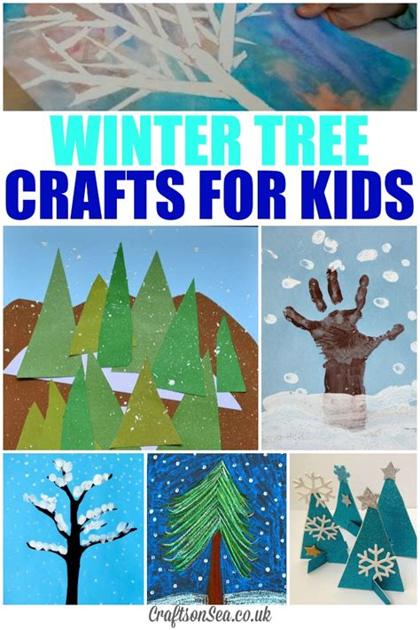 glittery winter tree crafts for kids crafts on sea