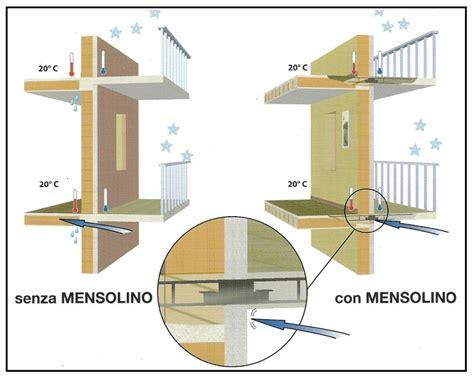 solaio terrazzo una mensola risolve il problema dei ponti termici nel