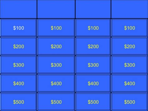 Jeopardy Game Template Doliquid Jeopardy Template With