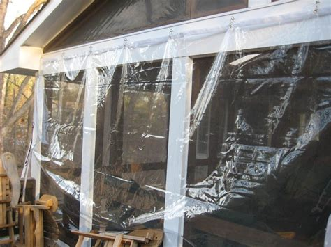 Clear Vinyl Plastic Winter Curtains Vinyl Porch Enclosure Sun Porch Pinterest Porch Enclosures Porch And Patios