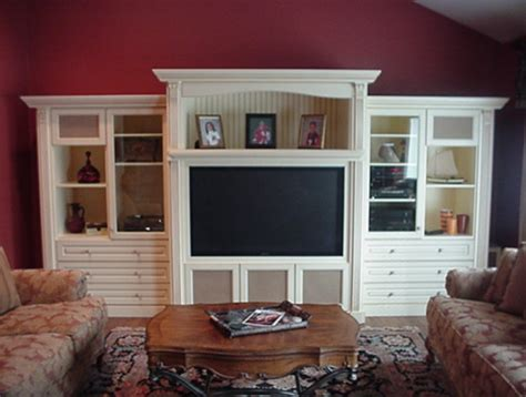 Cleary Custom Cabinets Custom Wall Units Traditional Family Room New York