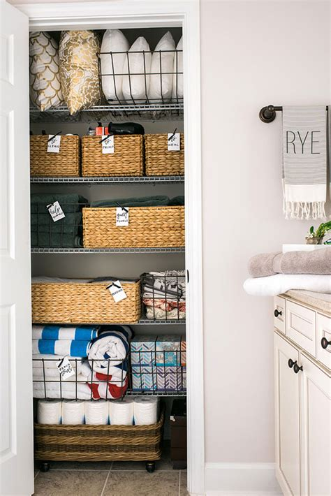 how to organize bathroom closet waiting on martha
