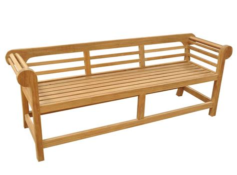 low bench teak garden bench low back marlborough