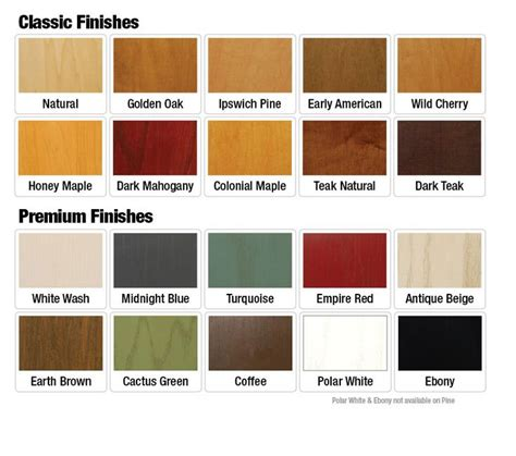 wood furniture colors chart 25 best ideas about wood stain color chart on pinterest