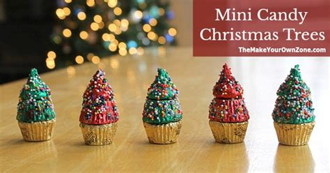 mini candy christmas trees the make your own zone