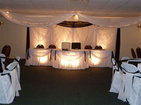 Black & white fabric drape wedding backdrop   CC Events