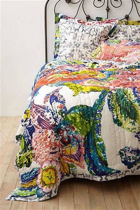 anthro bedding bohemian multicolored moroccan quilt