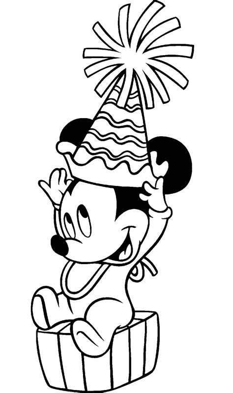 Mickey Mouse Coloring Pages For Printable by Happy Birthday Mickey Mouse Printable Coloring Pages