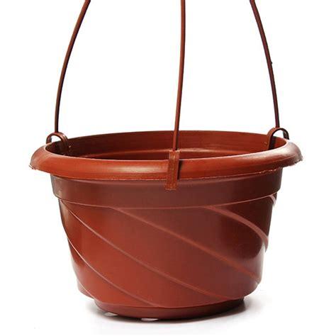 hanging pot hanging flower plant pot home garden decoration brick red