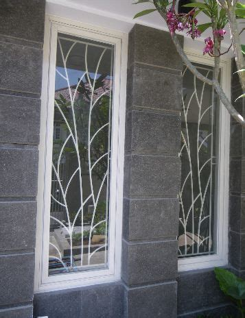 desain daun jendela minimalis teralis jendela dan pintu rumah ranting daun 187 gambar 44