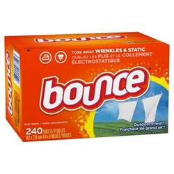 bounce 174 outdoor fresh fabric softener dryer sheets 240ct